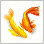 coaster-art-carp-pair