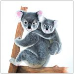 coaster-art-koala-and-baby