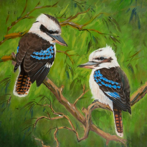 coaster-art-kookaburra-pair-green-background