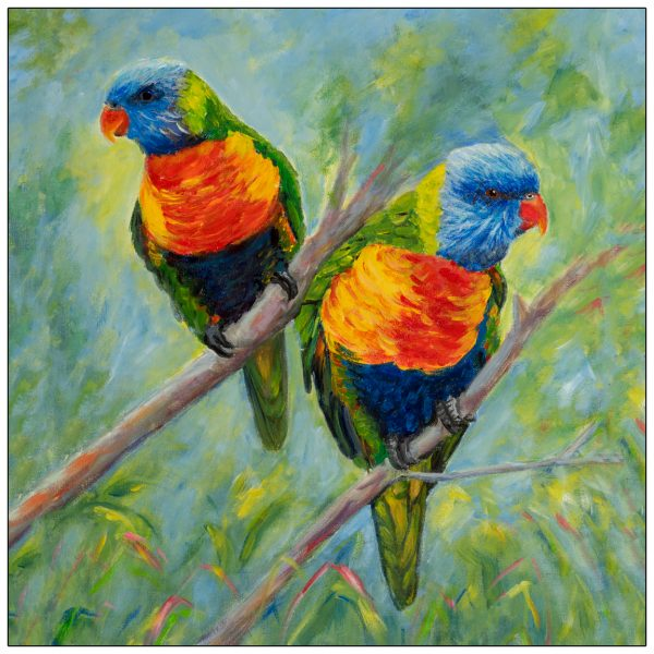 coaster-art-lorikeet-pair