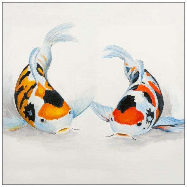 coaster-art-speckled-carp-pair