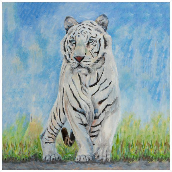 coaster-art-white-tiger
