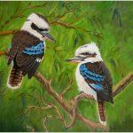 placemat-kookaburra-pair-green-background