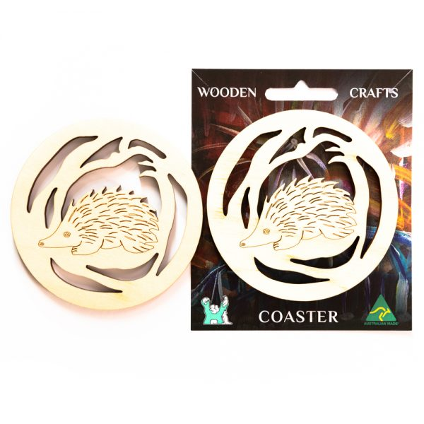 wooden-coaster-echidna-on-card