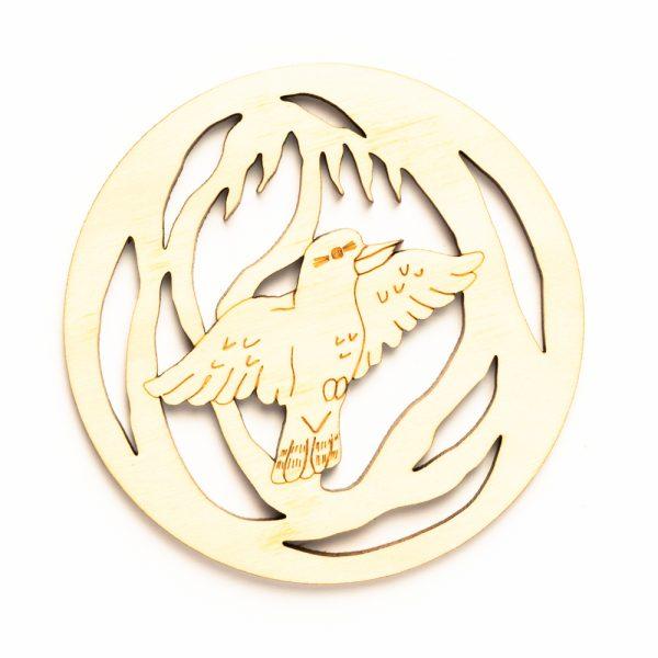 wooden-coaster-kookaburra