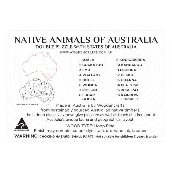 Double Australia Map Puzzle – brian print (2)