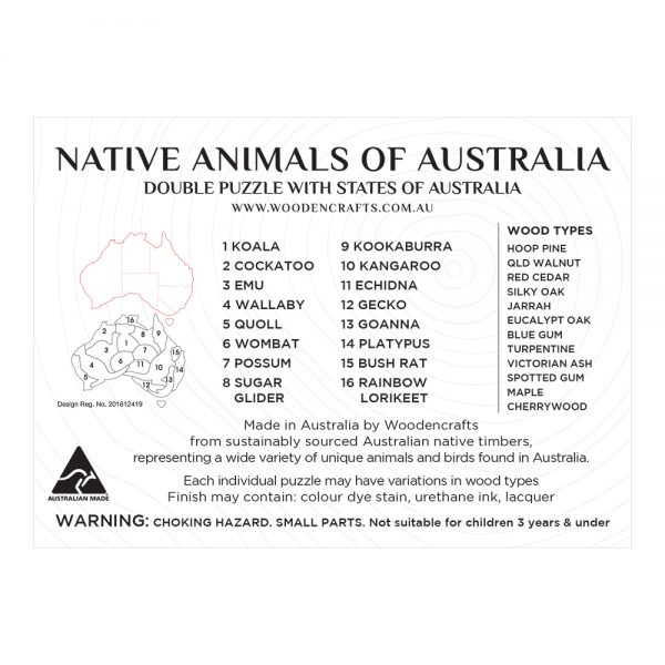 Double Mixed Wood Australia Map Puzzle – brian print (1)