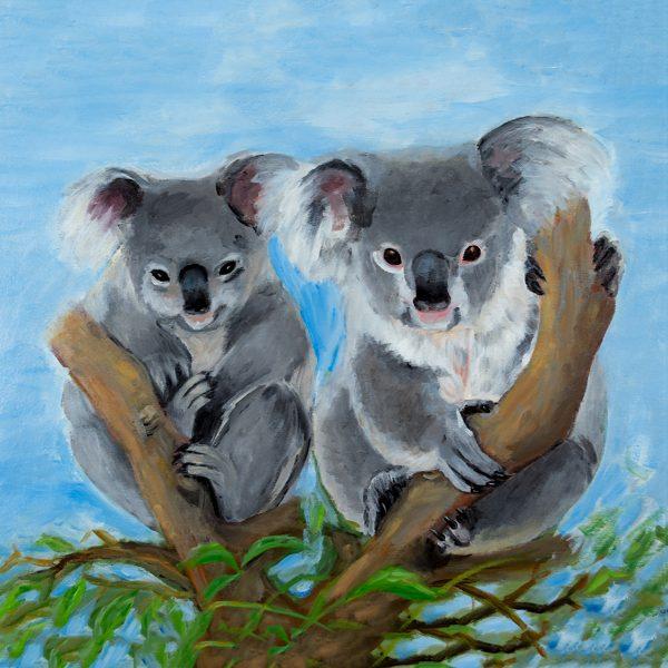coaster-art-koala-pair