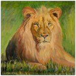 coaster-art-lion
