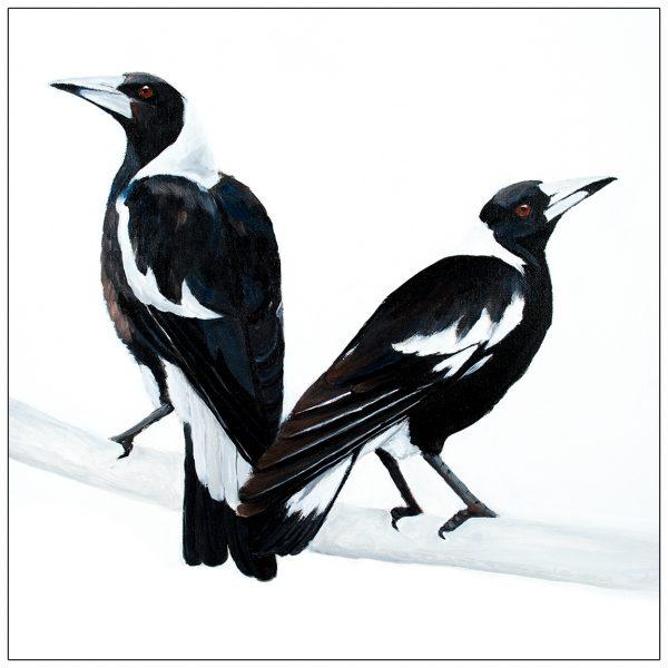 coaster-art-magpie-pair