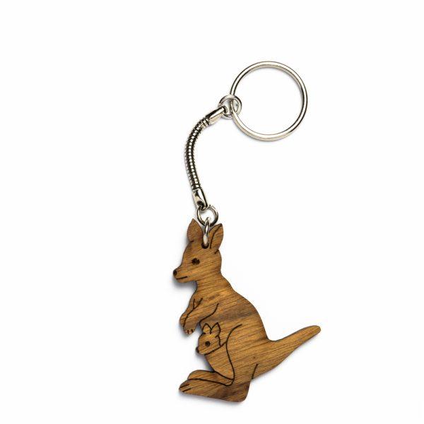 keyring-kangaroo-red-brown