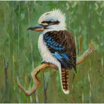 print-kookaburra-green-background