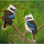 print-kookaburra-pair-green-background