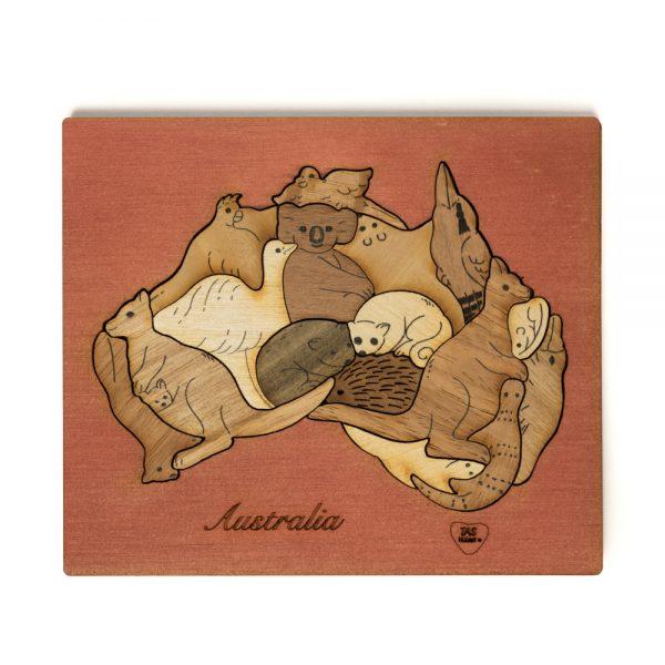 wood-puzzle-australia-single-layer-mixed-wood-cedar-background (a)